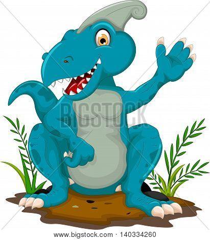 cute tyrannosaurus cartoon sitting for you design