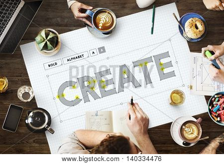 Create Creative Ideas Thinking Thoughts Concept