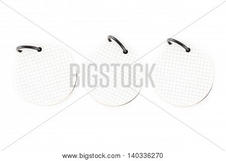 Three Circle Shape Notepad Isolated On White Background