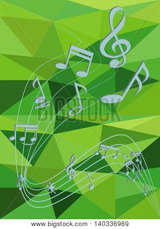 Stock Photo - Blue abstract background with music notes