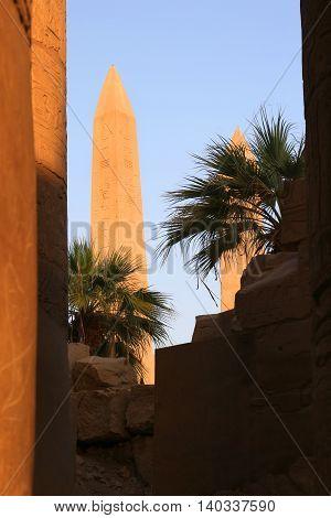 Obelisk At Karnak Temple, Egypt