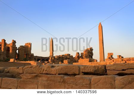 Obelisks At Karnak Temple, Egypt