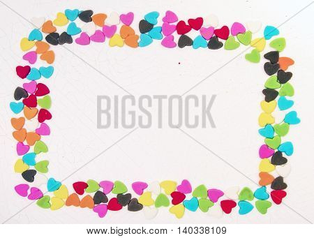 heart shape  confectionery border