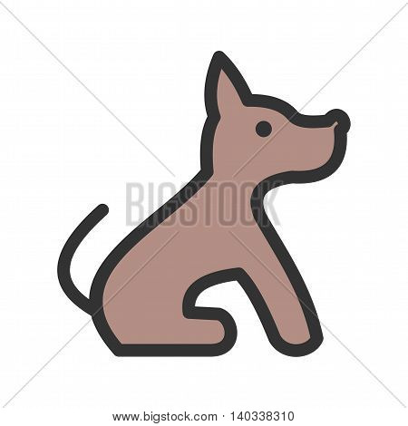 Dog, pet, house icon vector image. Can also be used for pet shop. Suitable for use on web apps, mobile apps and print media.