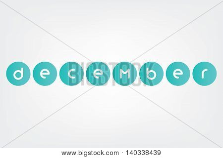 november, Names of months of the year in white background
