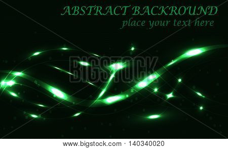 dark green background bokeh with lights vector illustration