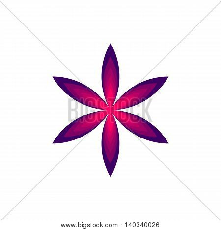 abcstarct beautiful red geometric flower vector illustration