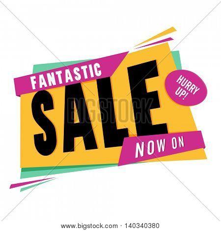 Fantastic Sale Poster, Banner or Flyer design on white background.