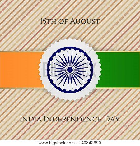 India Independence Day festive Emblem. Vector illustration