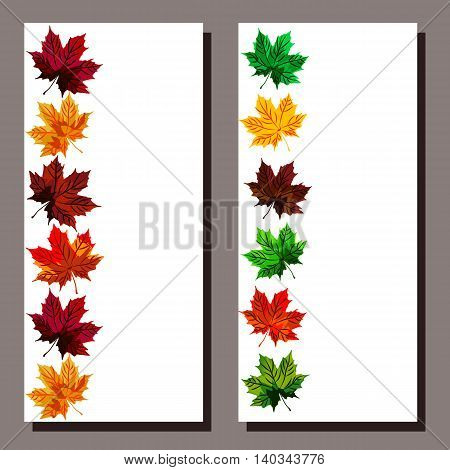 Original card with autumn leaves in ethnic style. It can be used for any kind of celebrations held in the fall or be used as an invitation card