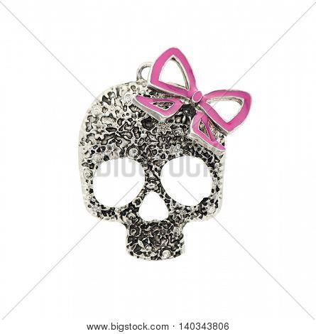 pendant skull on a white background