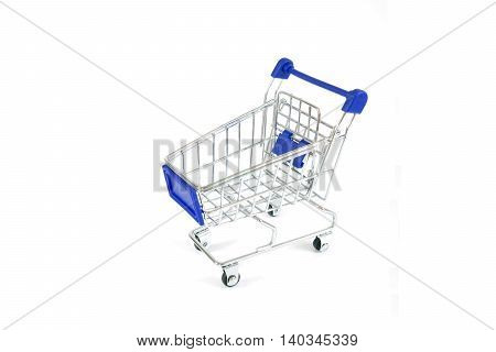metal shopping trolley, pushcart, supermarket, mini-mart, shopping
