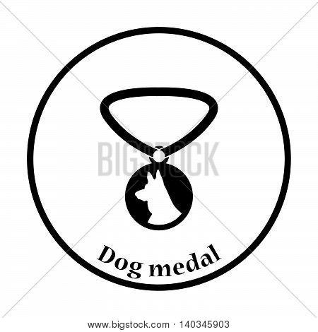 Dog Medal Icon