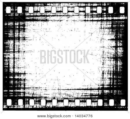 vector grunge film strip frame