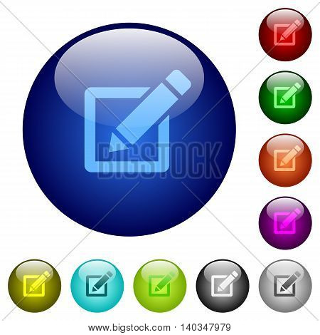 Set of color editor glass web buttons.