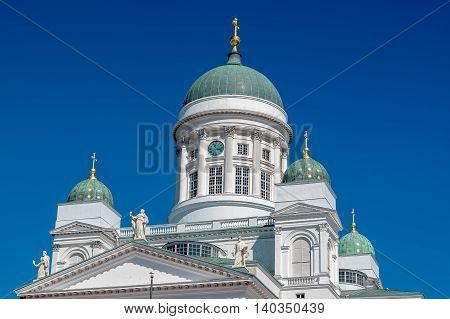 Lutheran Cathedral (Tuomiokirkko). Senate Square Helsinki Helsingfors Finland