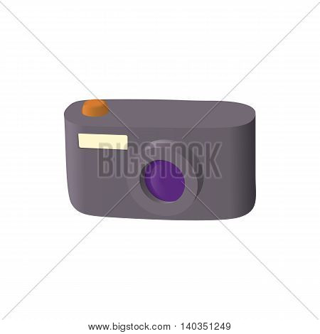 Camera icon in cartoon style isolated on white background. Shooting symbol