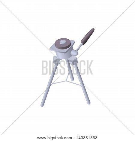 Tripod for camera icon in cartoon style isolated on white background. Shooting symbol