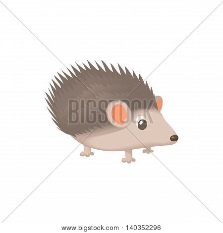 Hedgehog icon in cartoon style isolated on white background. Animal symbol