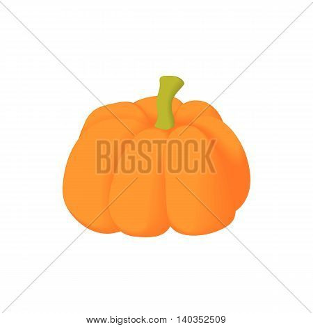 Pumpkin icon in cartoon style isolated on white background. Food symbol