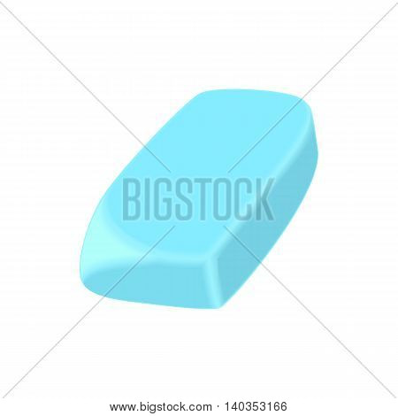 Eraser icon in cartoon style isolated on white background. Stationery symbol
