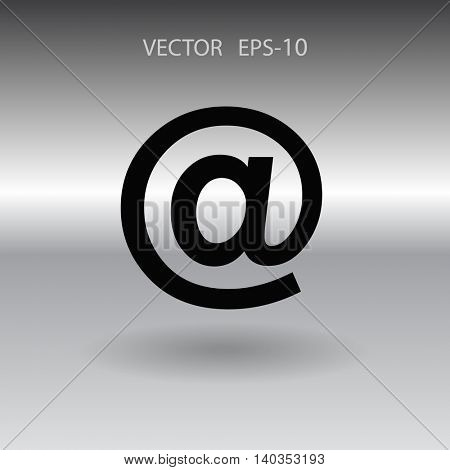 Flat icon of email