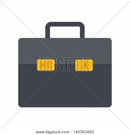 Flat icon briefcase. Business icon. Vector illustration.