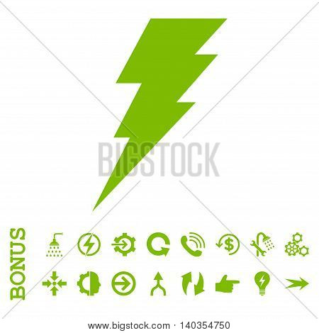 Execute vector icon. Image style is a flat pictogram symbol, eco green color, white background.