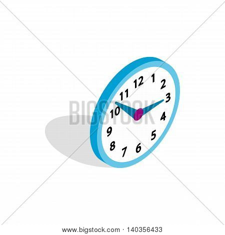 Office clock icon in isometric 3d style isolated on white background