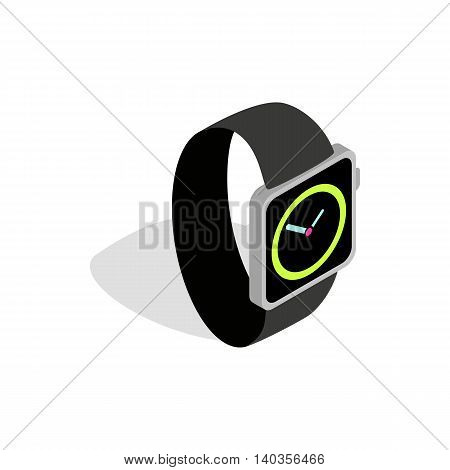 Wristwatch icon in isometric 3d style isolated on white background