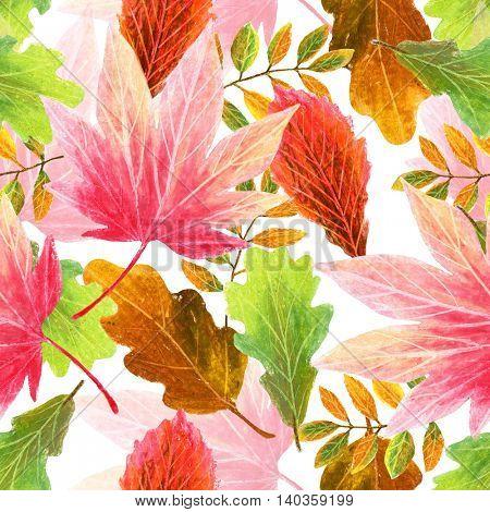 autumn leaves, seamless pattern