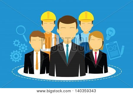 HR human resources in company vector illustration