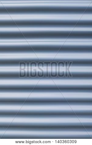 Steel blue galvanized texture corrugated sheet pattern