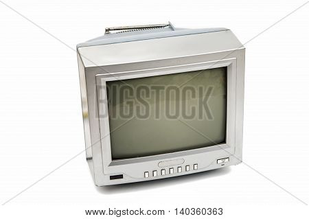 old TV  technology on a white background