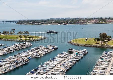 Many Yachts at the San Diego Marina
