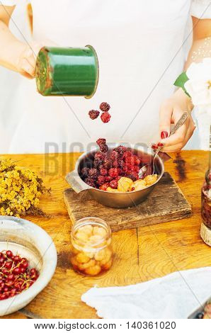 Fruit And Berry Smoothies With Raspberry, Agrus, Currants.  Strawberry Coctail With Lime And  Water.