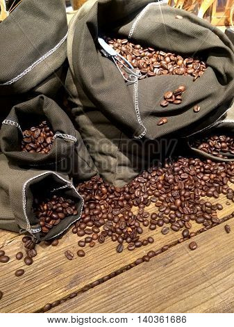 Coffee Beans On Bags