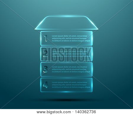 Vector clean transparent buttons in the shape of house