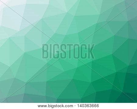 Green teal white gradient polygon shaped background.