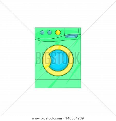 Washing machine icon in cartoon style on a white background
