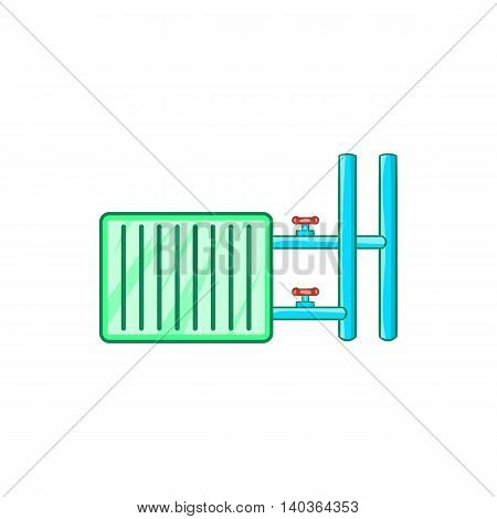 Radiator icon in cartoon style on a white background