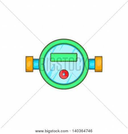 Water meter icon in cartoon style on a white background