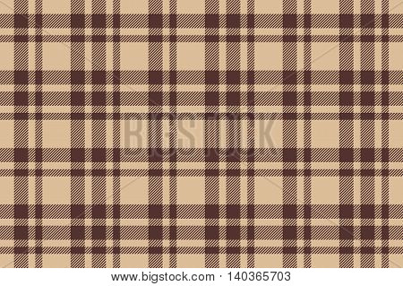 Beige brown check plaid seamless. Vector illustration. EPS10.