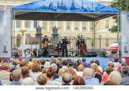 St. Petersburg, Russia - 23 July, Jazz Festival in St. Petersburg