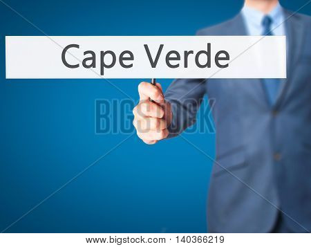 Cape Verde - Business Man Showing Sign