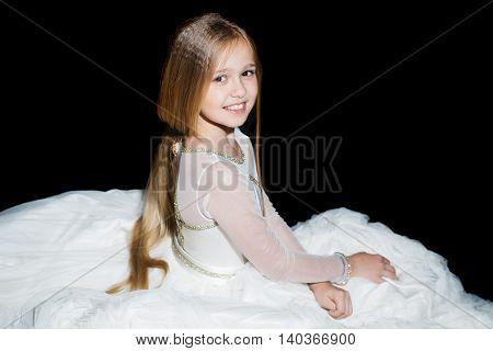 Sitting Small Girl