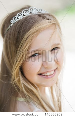 Small Girl In Princess Crown