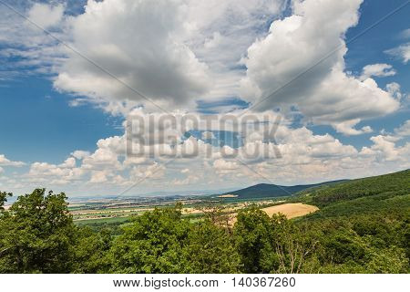View From The Oponice Castle Ruin, Slovakia