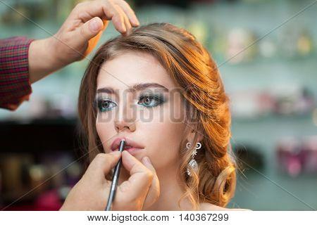 Pretty Girl Making Makeup
