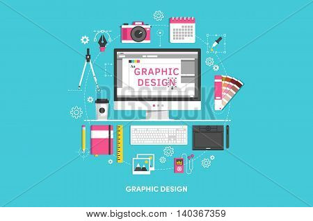 Design concepts Icons for graphic design. Flat style. Vector